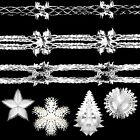Christmas (DP) Foil Ceiling Decorations - Garlands, Trees, Balls - White