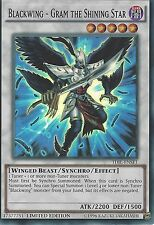 3 X YU-GI-OH SUPER RARE: BLACKWING - GRAM THE SHINING STAR - TDIL-ENSE1 - LIM ED