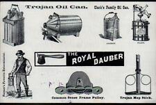 1891 Peabody & Parks Trojan Oil Cans Potato Bug Killer Troy NY Letter Head Rare