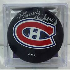 Maurice Richard Canadians Puck COA Signature is in Silver, JSA Cert!