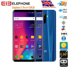 "Elephone U Pro 6+128GB 18:9 Screen 4G Mobile Octa 5.99"" Smartphone Android8.0 UK"