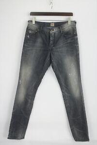 PRPS FURY STYLE: E63P95 Men's W32 Ripped Fade Effect Dark Blue Jeans 27369-JS