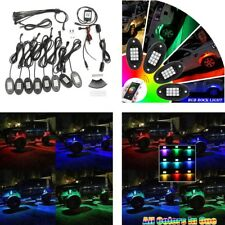 8PC RGB LED Multi-Color Offroad Rock Lights Wireless Bluetooth APP Control Jeep