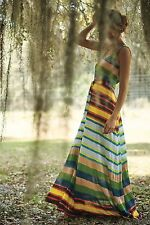 Anthropologie Plenty By Tracy Reese Spectrum Stripe Maxi Dress Size M