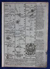 ORIGINALE Antico Mappa Berkshire, Gloucestershire, Abingdon, E. Bowen, c.1724