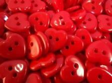 !!DIFFERENT COLOURS!! 10pcs CUTE HEART BABY ITALIAN BUTTONS 15mm-C1161