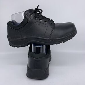 RED WING Safety Toe SD Black Leather Oxfords Work Shoes Women Size 6 D