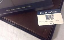 NEW POLO RALPH LAUREN Leather Tablet Case iPad Cover Brown Fold Folio MSRP $98