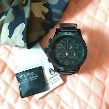 Nixon 51-30 Chrono Matte Black Green Men's Wrist Watch