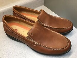 Clarks Unstructured Mens Brown Dress Slip On Loafers Shoes Sz 13M Gently Used