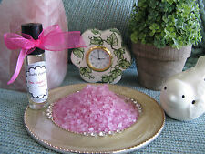 NEW PINK SUGAR (Type) FRAGRANCE OIL GLASS ROLLER BALL BOTTLE--PURSE SIZE