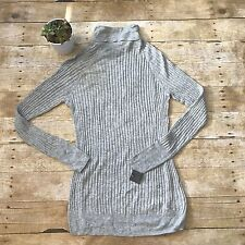 NWT Mossimo Ribbed Turtleneck Shirt Womens Sz XL Long Sleeve Gray Casual Career