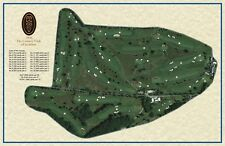 CC of Scranton 1896 Walter Travis  Vintage Golf Course Maps print