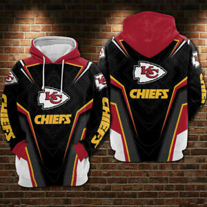 2020 Kansas City Chiefs Hoodie 3D Print Sweatshirts Men's Pullover Gift for Fans