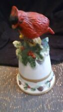 Bisque Porcelain Red Cardinal Bell