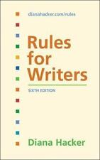 Rules for Writers by Diana Hacker (2007, Spiral)