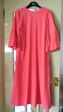 PINK BELL SLEEVE DRESS WITH REAR NECK TIE FROM MARKS & SPENCER - SIZE 14 - BNWT