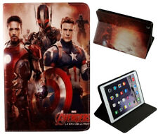For Apple iPad 2 3 4 Captain America Marvel Comics DC Stand Smart Case Cover