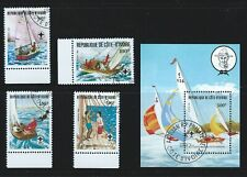 Ivory Coast Sc 631-4  635 Ss Scouting Year Sailing
