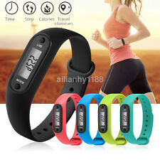 Hot Run Step Walk Watch Bracelet Pedometer Waterproof LCD Distance Wrist Band US