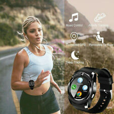 For Android IOS Wrist Watch Fitness Bluetooth GPS SIM GSM Smart Watch V8 Camera