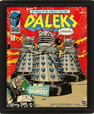 DOCTOR WHO DAVROS AND DALEKS DIMENSION 3D BOX PICTURE FRAME NEW & READY TO HANG