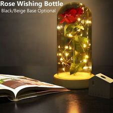 Beauty Enchanted Rose Flower Lamp The Beast LED Night Light Valentine's Day Gift