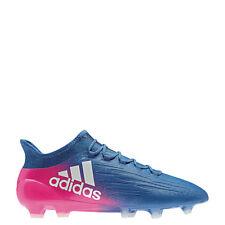 Adidas x 16.1 FG Blue Blast techfit botas de fútbol azul/blanco/rosa [bb5619]