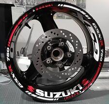 GSXR Wheel Stickers Rim Tape, 48 pieces 600/750/1000 bandit Bking gsr suzuki gsx