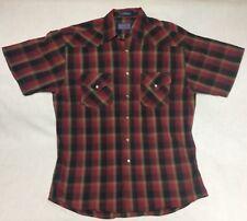 Pendleton Men's Frontier Western Wear Short Sleeve Shirt Pearl Snap Shirt Size M