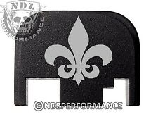 Rear Slide Plate For Glock 17 19 21 22 23 27 30 34 36 40 41 Fleur de Lis Solid