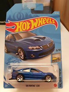 Hot Wheels 2021 '06 Pontiac GTO *87/250 HW Factory Fresh *5/10 GTB72 Long Blue
