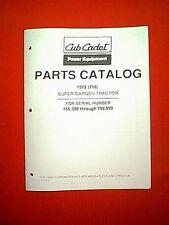 CUB CADET SUPER GARDEN DIESEL TRACTOR MODEL 1572 ( 710 ) PARTS MANUAL