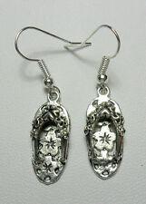 Dangle earrings - sandals/flip-flops, Tibetan silver style