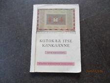 1934 Finland Weaving Knitting Manual Patterns