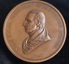 1841 John Tyler IP-21 Indian Peace Medal Bronze