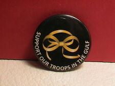 OPERATION DESERT STORM YELLOW RIBBON SUPPORT IRAQ KUWAIT ARMY MILITARY PIN BACK
