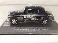 1/43 CAL381 SIMCA ARONDE DE RECORD 1953 NEGRO