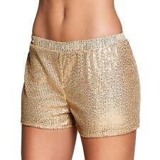Ladies Sequin Hot Pants 80s Dance Shorts Fancy Dress Costume