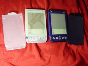Lot (2) Handspring Visor PDA Palm Pilot With Pen Stylus Pocket Express