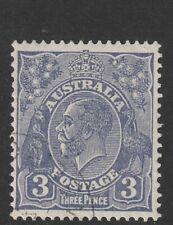 Australia 1932 : 3d. Blue King george V Head - C of A Watermark - CTO