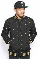 BLACK SCALE HUBERT PENTAGRAM VARSITY JACKET BLACK AUTHENTIC - IMPORTED FROM USA