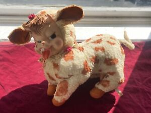 Rushton Co. Daisy Belle Brown Cow Rubber Vinyl Face Doll 1950s Kitsch Plush Rare