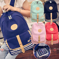 Lady Girls Travel Canvas Backpack College Large Shoulder School Bag Rucksack Lot