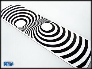 Bally Pinball Twilight Zone Pinball - SPIRAL VORTEX Back Board DECAL MOD!