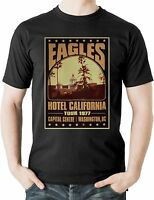 The Eagles Hotel California Tour T shirt Rock Music Memorabilia Retro Tee 1977