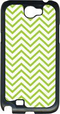 Green Chevron Design on Samsung Galaxy Note II 2 Hard Case Cover