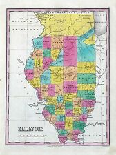 Illinois state 219 maps Panoramic genealogy old History Dvd