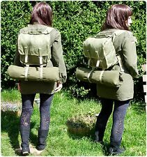 VINTAGE ARMY SURPLUS DAY PACK BACKPACK  RUCKSACK IN GREEN WARSAW PACT