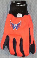 NHL Washington Capitals Utility Gloves Red w/ Black Palm by FOCO